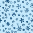 Snow Seamless Blue Vector Background — Stock Vector #4605128