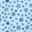 Snow Seamless Blue Vector Background — Stock Vector