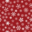 Snow Seamless Red Vector Background — Stock Vector