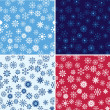 Snow Seamless Vector Background Set — Stock Vector