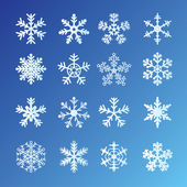 Snowflakes Set — Vector de stock
