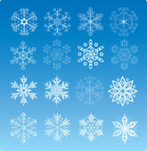 Ensemble flocon de neige — Vecteur