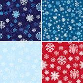 Snow Seamless Background Set — Stock Vector
