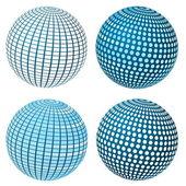 Vector Sphere Set — Stock Vector