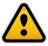 Panneau de signalisation attention — Vecteur