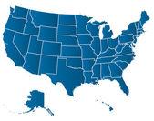 アメリカ合衆国のベクトル地図 — ストックベクタ