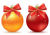 Christmas balls — Vector de stock