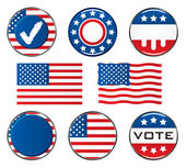 American Vote Signs — Stock Vector