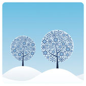 Winter Trees — Stock Vector