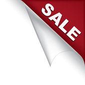 Försäljning sidan hörn — Stockvektor