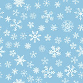 Snow Seamless Light Blue Vector Background — Stock Vector