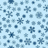 Snow Seamless Blue Vector Background — Stock Vector
