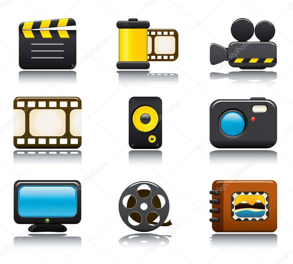 Video and Photo Icon Set One. Easy To Edit Vector Image. — Stock Vector #4604765