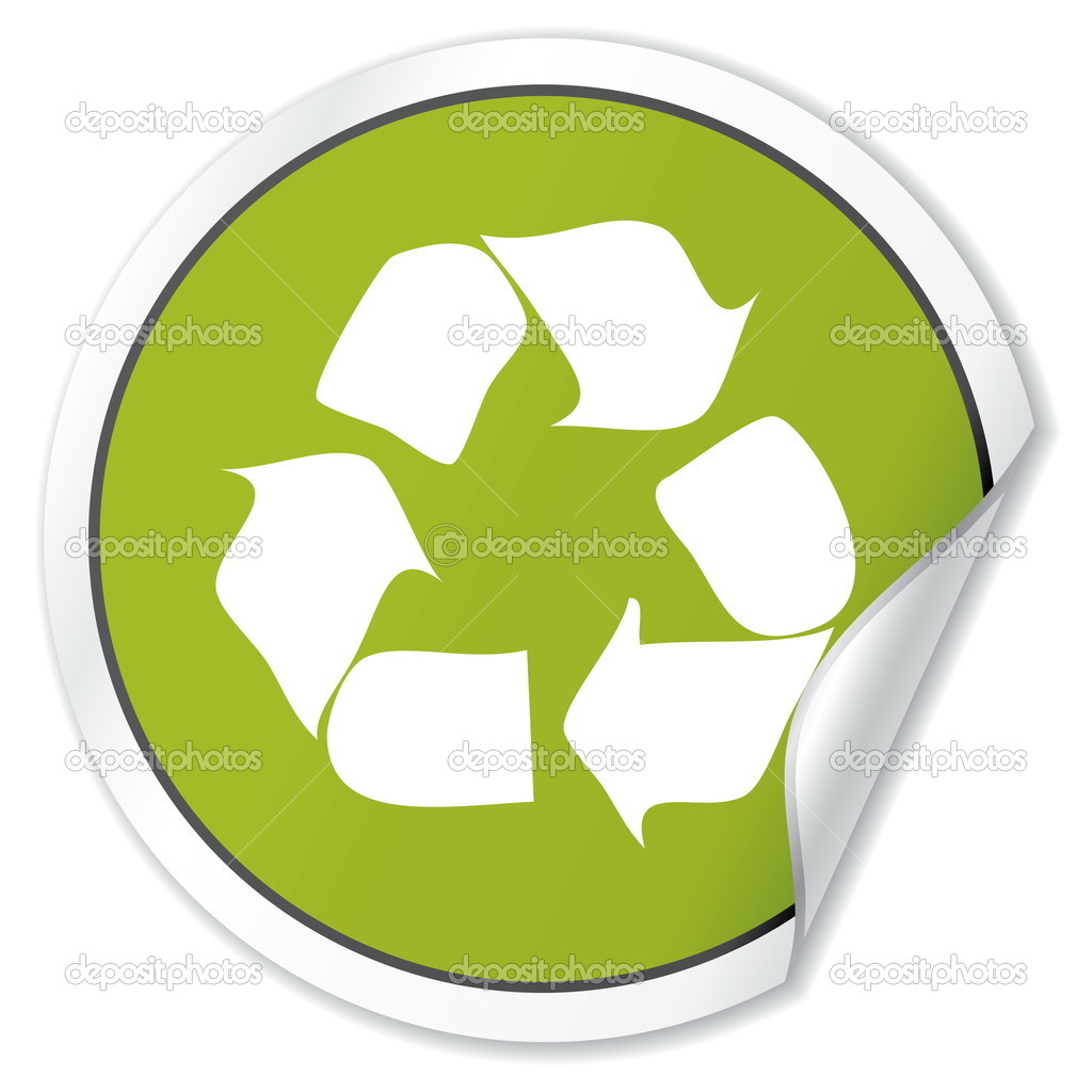 Recycle Vector Sticker. Ecology Collection. — Stock Vector #4604982