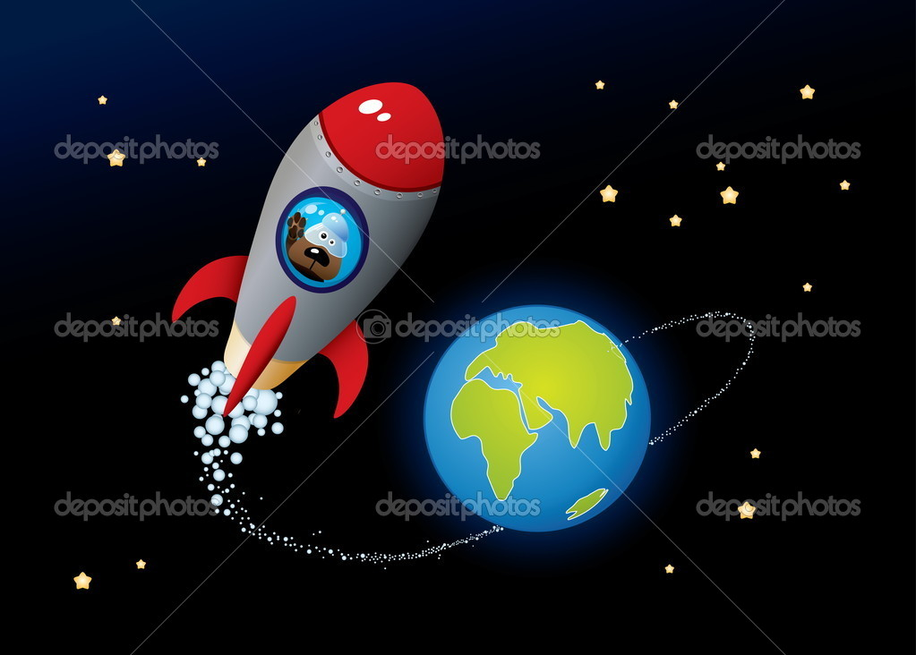 Deep Space. Vector Cartoon Image.  Stock Vector #4605076