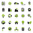 Environment icon set - Stockvektor