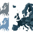Europe map - Imagens vectoriais em stock