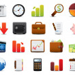 finanzen-icon-set — Stockvektor