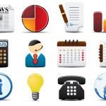 icone vettoriali finanza impostare due — Vettoriale Stock