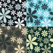 Retro Floral Pattern Set — Stock Vector #4723361