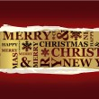 Merry Christmas greeting card — Vettoriali Stock