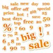 Set of vector sale signs and numbers - Imagen vectorial