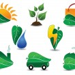 Ecology Icon Set — Stok Vektör