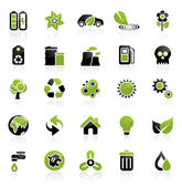 Environment icon set — Vector de stock