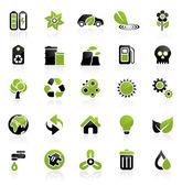 Miljö ikonuppsättning — Stockvektor