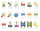 Document Icon Set — Stok Vektör