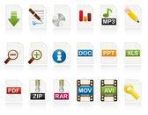 Jeu d'icônes de document — Vecteur