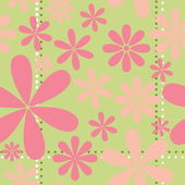 Pink Retro Floral Pattern — Vector de stock