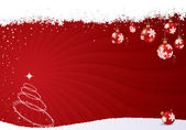 Christmas vector background — Vetor de Stock