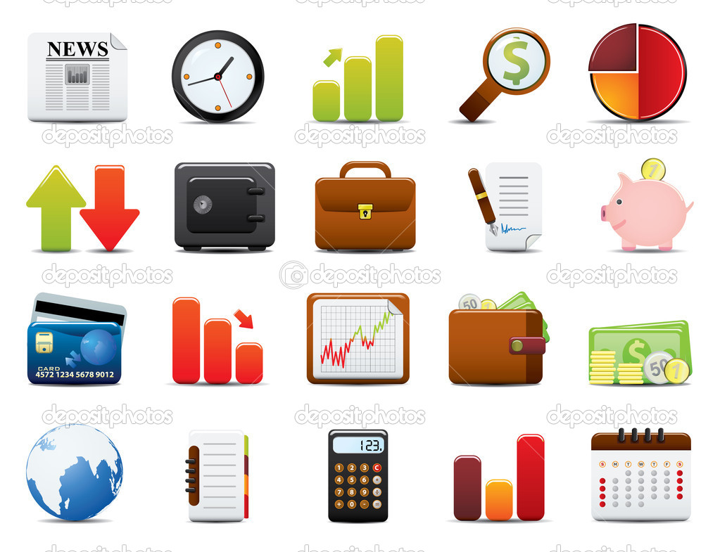 Finance Icon Set. Easy To Edit Vector Image. — Stock Vector #4723351