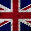 drapeau de grunge de uk — Photo