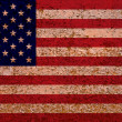 Rusty American Flag - Stock Photo