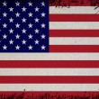 Retro Flag Of USA - Stock Photo