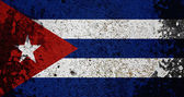 Grunge Cuba Flag — Photo