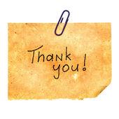Mensagem de agradecimento — Foto Stock