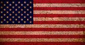 Rusty American Flag — Stock Photo