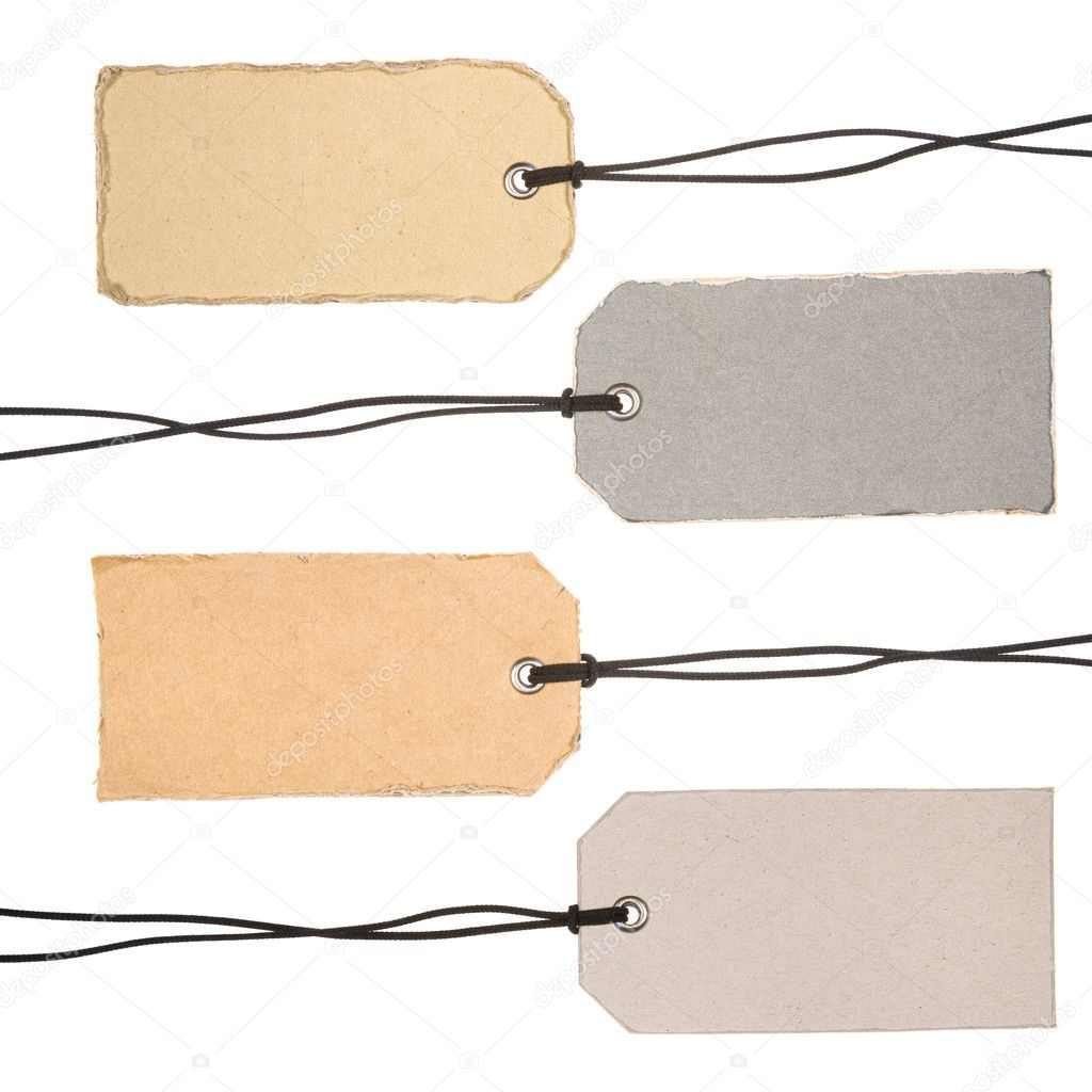 Set of Cardboard Tags. Ready for your message. — Stock Photo #4734369