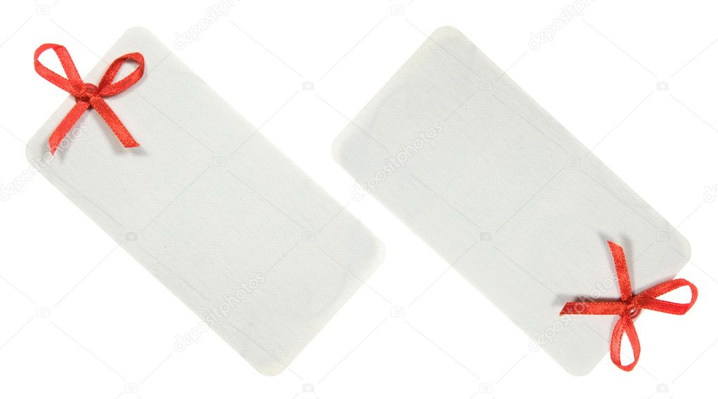 Decorated Label Set Isolated on white Background — Stock Photo #4735389