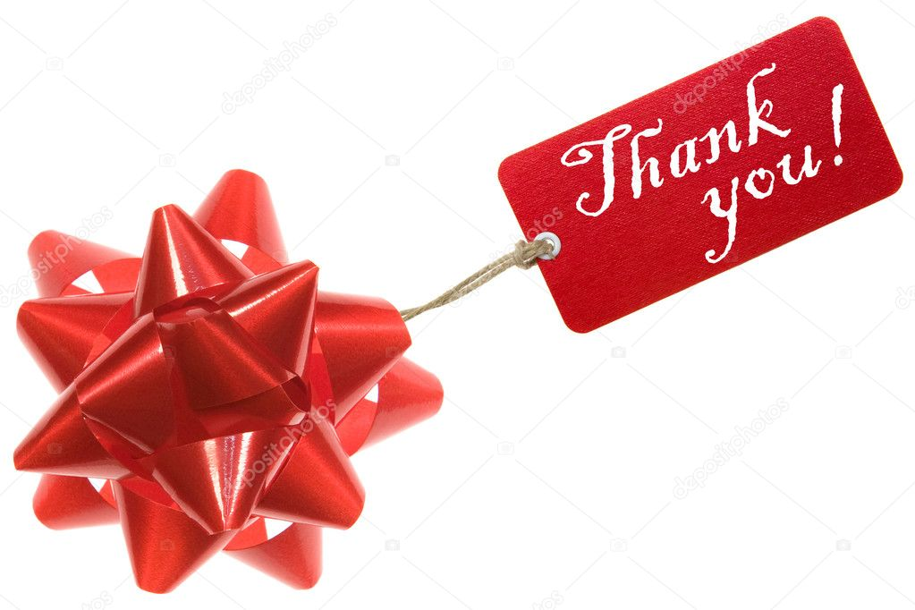 Thank you. Gift Card Isolated on White. — Stock Photo #4735500