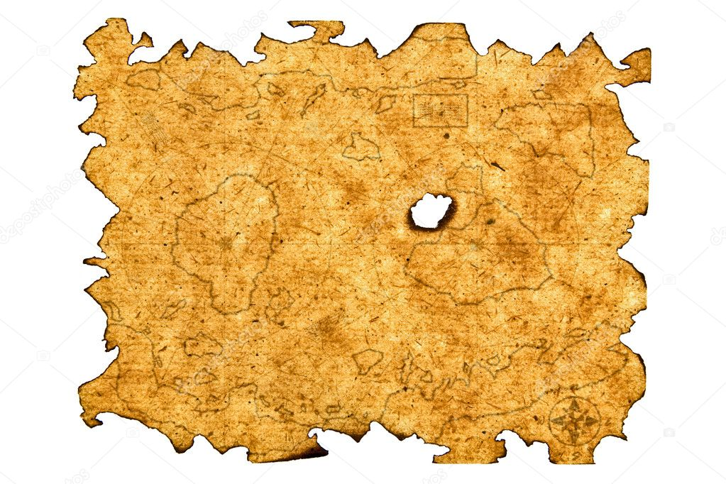 Antique Treasure Map. Paper Series. — Stock Photo #4735515