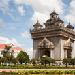 Patuxai monument - Stock Photo