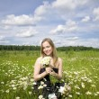 Woman On The Meadow — Stock Photo