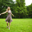 Dancing Outdoors — Stock Photo