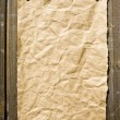 Old Paper On Dark Wooden Texture - Stock Photo