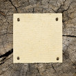 Old Paper On Wooden Background - Stock Photo