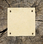Old Paper On Wooden Background — Stock Photo